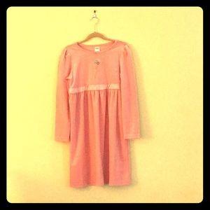 Gymboree light pink velvet dress. Girls size 8.